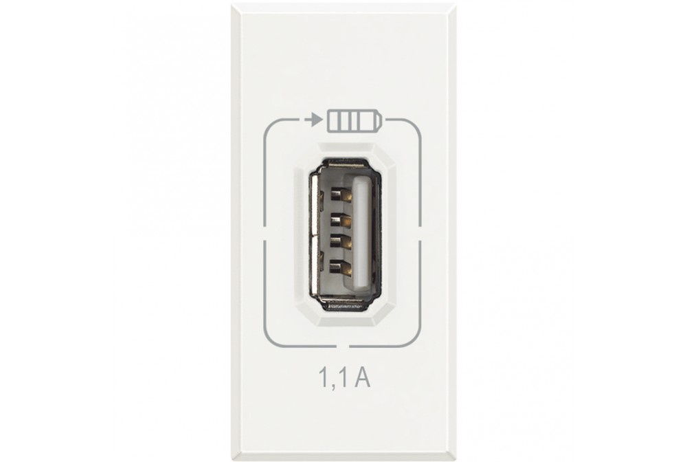 AXOLUTE - CARICATORE USB CHARGER 1.1A BIANCO