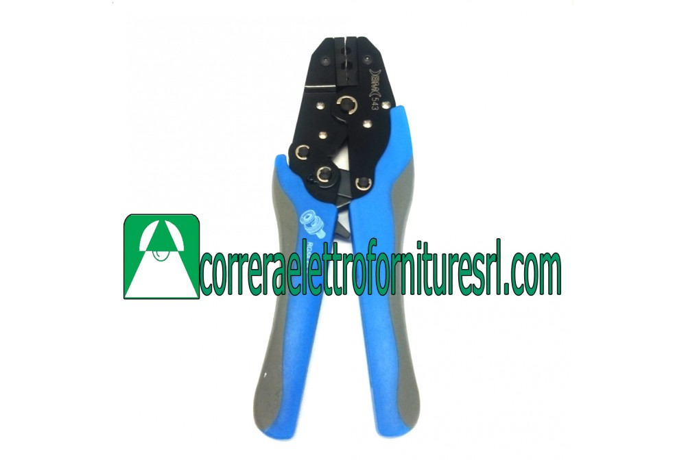 bm 543 pinza per elettricisti connettori coassiali RG58 RG59 dm. 6 mm