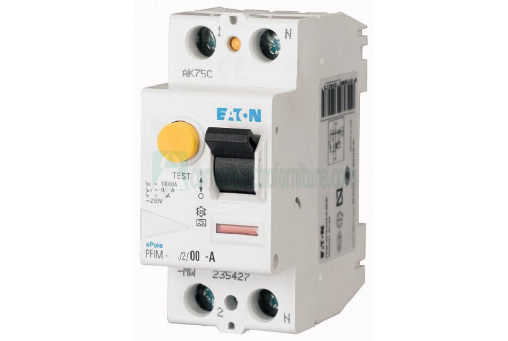 Interruttore differenziale puro AC 2P 63A 500ma EATON 235401