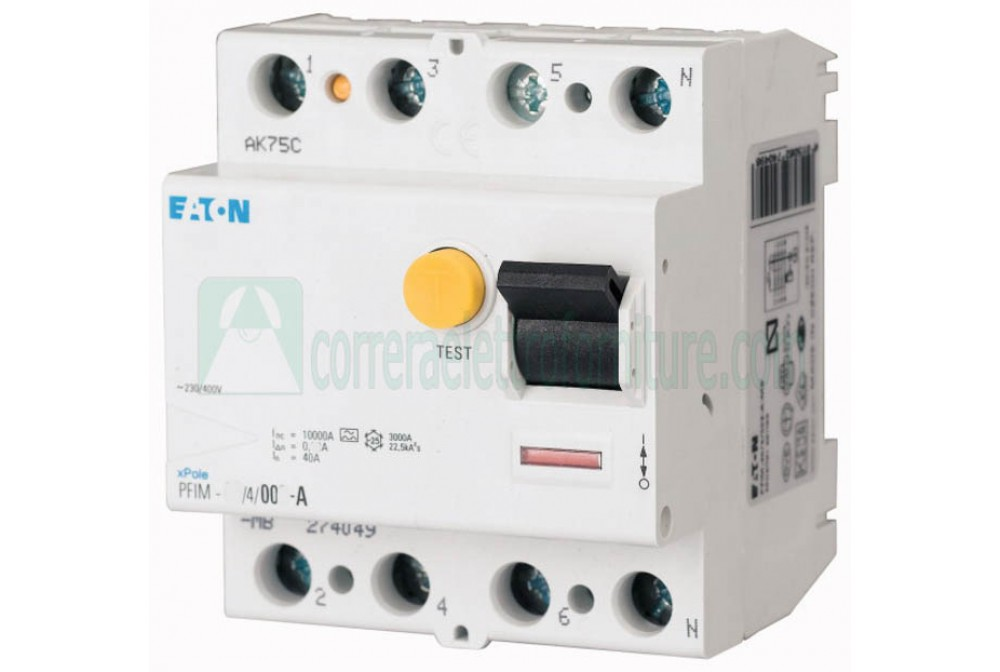 Interruttore differenziale puro AC 4P 63A 30ma EATON 235414