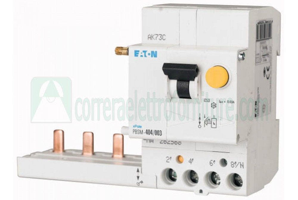 eaton 262568 blocco differenziale 4 Poli 40A- 0.03A classe AC per interruttori PLS
