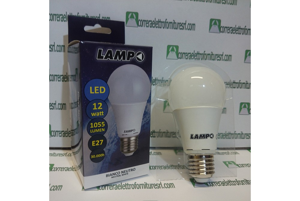lampo lighting G60-12W/E27/BC Lampada LED E27 12W -230V 3000K (luce calda)