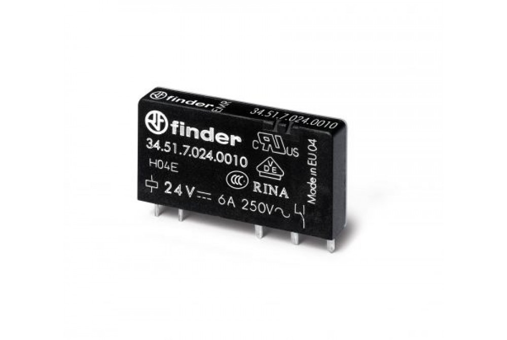 finder 345170240010 minirel'å 1 scambio 24V AC/DC per interfaccia