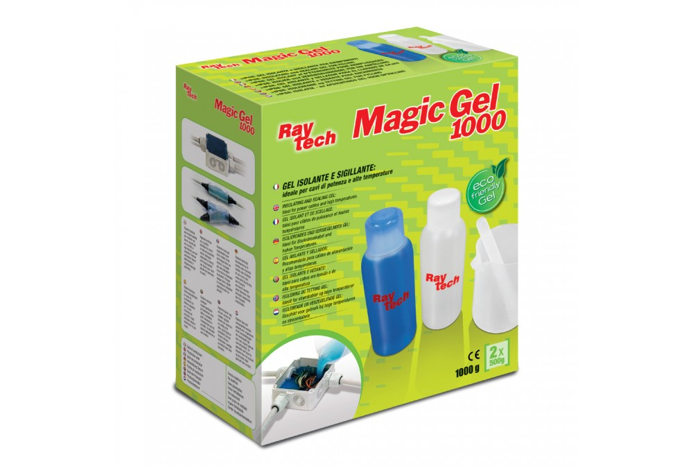 raytech  MAGIC GEL-2000 soluzione isolante in gel per riempimento composte da 2 monobottiglie da  1 LT.