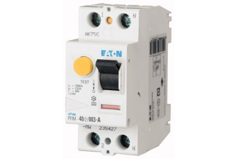 Interruttore differenziale puro AC 2P 63A 300ma EATON 235400